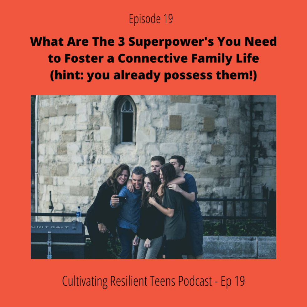 Ep - 19 What are the 3 Superpower's You Need to Foster a Connective Family Life (hint: you already possess them!)